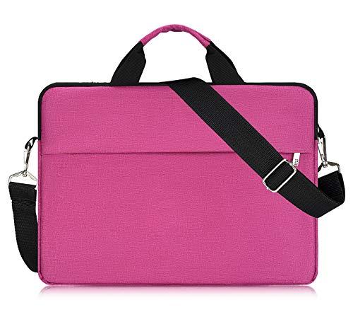 15.6 Inch Waterproof Laptop Sleeve Case Shoulder Bag for Acer Aspire E 15,Acer Predator Helios 300,ASUS VivoBook F510UA 15.6',HP Pavilion X360 15.6, Dell Lenovo LG MSI and Most 15.6' Notebook,Rose Red