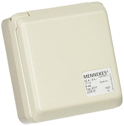 Mennekes (Unternehmen) 101100353Basen in System cepex-th, Steckdosen CEE, 230V, 50–60Hz, 32A, 3pol, IP 44, 5Paket