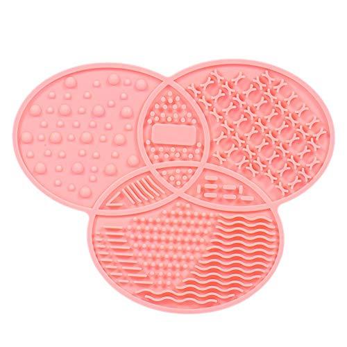 Hangarone Maquillage Brosse Cleaner Pad Silicone avec Ventouse Pinceau De Beauté Tampon De Nettoyage (11.6X14.3CM)
