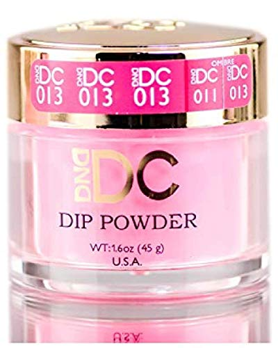 DND DC Pinks DIP POWDER for Nails 1.6oz, 45g, Daisy Dipping (with Glitter) Made in USA (Brilliant Pink (013))