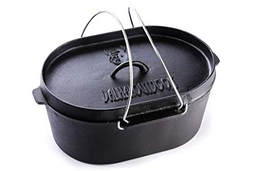 Valhal Outdoor - Dutch Oven gietijzer 9L ovaal