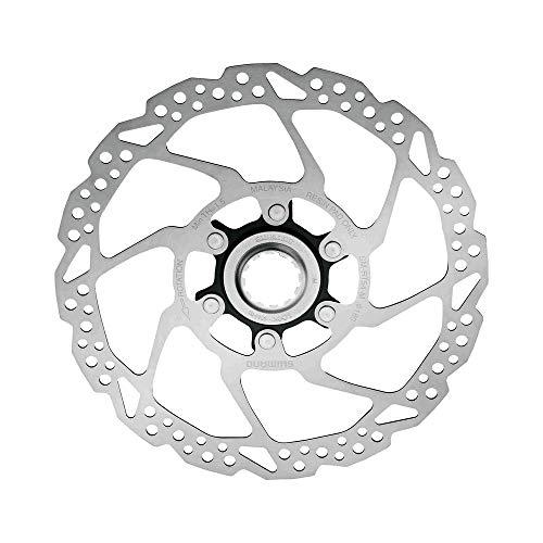 SHIMANO Disco 160mm C.Lock Rt54 Solo Resina Ciclismo Unisex Adulto, Multicolor(Plateado/Negro)