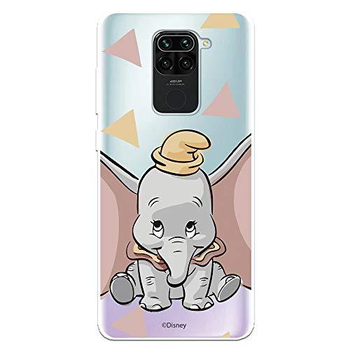 Funda para Xiaomi Redmi Note 9 Oficial de Dumbo Dumbo Silueta Transparente para Proteger tu móvil. Carcasa para Xiaomi de Silicona Flexible con Licencia Oficial de Disney.