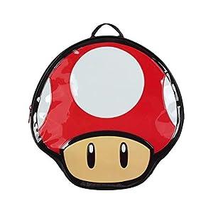 Bioworld Nintendo Super Mario Bros. Mochila con forma de seta, multicolor (Bp990401Ntn) Mochila informal, 41 cm, 10 L…