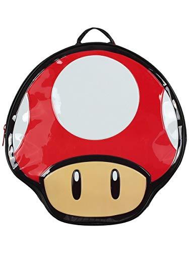 Bioworld Nintendo Super Mario Bros. Mochila en forma de seta, multicolor (Bp990401Ntn) Casual Daypack 41 cm, 10 L, rojo