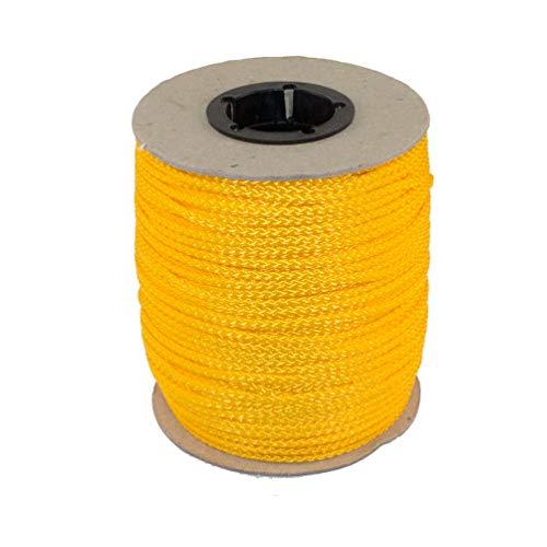 PPM Flechtleine 3,0mm - 100mtr Rolle in vielen Farben (Gelb) / Seil, Tauwerk, Leine