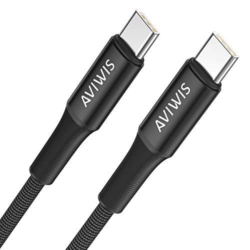 AVIWIS USB C auf USB C Kabel 3M USB Typ C 100W 20V/5A Power Delivery Ladekabel USB C PD Schnellladekabel Kompatibel mit Samsung Galaxy S20 Note20, Huawei P40 P30, Google Pixel, MacBook Pro
