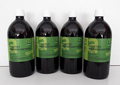 Eficaz microorganismos activos (EM-Active), aditivo de suelo, fertilizante 4 x 1 l fl.