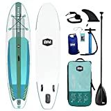BEYOND MARINA Inflatable Paddle Boards Featherlight Stand Up Paddleboard, 10'6'x32'x6' Surf Board with D Rings | Premium SUP Accessories, Backpack, Carbon Paddle, 10L Dry Bag, Hand Pump, Leash