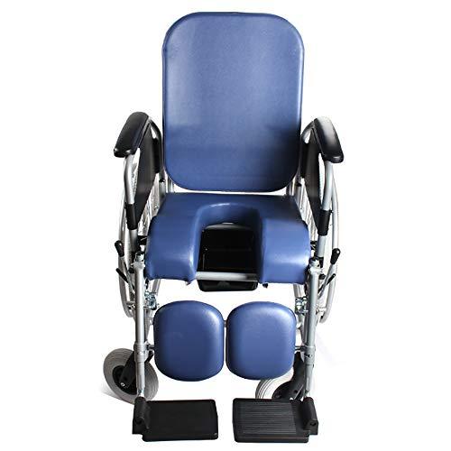 Half liggend-rolstoel, ouderlijk opvouwbare rolstoel, hoge rugleuning met een toiletbril leunend been handmatige rolstoel