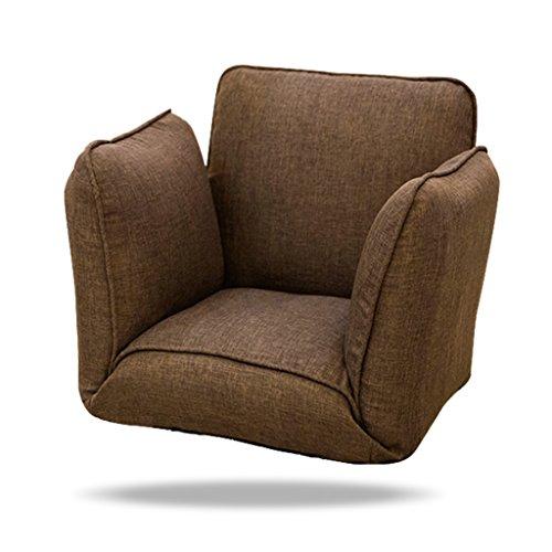 Sofa paresseux Fold Chaise Chambre Salon Tissu Loisirs Fauteuil avec accoudoirs -LI JING SHOP