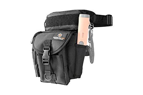 ProtectorTech HD - Marsupio con borsello per metal detector, con fondina per puntatore
