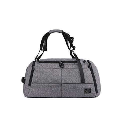 Bai You Mei Sporttasche Herren Faltbare Damen Reisetasche mit Abnehmbarem Schulterriemen Fitnesstasche mit zahlenshchloss, Schuhfach und Tragegurt atmungsaktive (Grau, 50x28x24.5cm)
