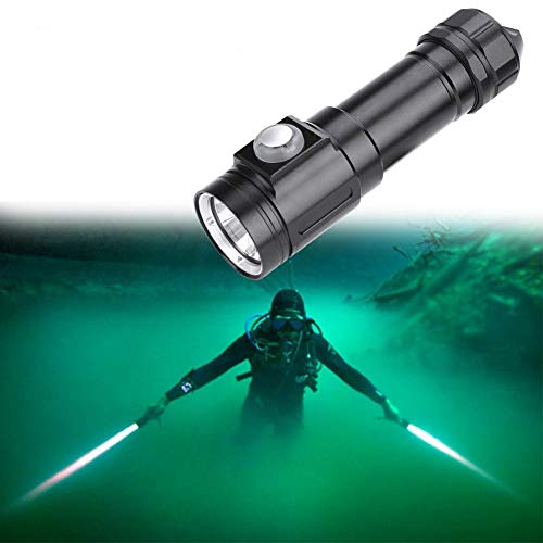 Blendungsfest LED Taucherleuchten, Reichweite 300-500 Meter, hoch, mittel, niedrig, Blitz, SOS, Lange Betätigung für Zwei Sekunden