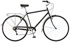 Schwinn steel retro city frame and fork offers a stylish, comfortable ride. Schwinn 7 speed twist shifter with Schwinn rear derailleur provide quick gear changes. Alloy front and rear linear pull brakes ensure precise stops. Fenders protect you from ...