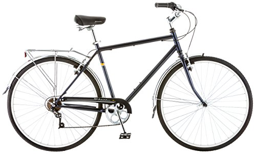 Schwinn Wayfarer Bike Mens and Womens Hybrid Retro-Styled Cruiser, 7-Speed, 28-inch Wheels, Medium Frame, Blue