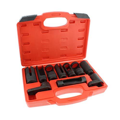 ABN Oxygen Sensor Socket Set – 10 Piece O2 Sensor Socket Set Oxygen Sensor Removal Tool Set 1/2in and 3/8in Sq Drive