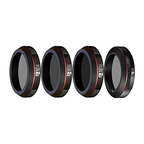 Freewell Giorno Standard- 4K Series - 4Pack ND4, ND8, ND16, CPL Camera Lens Filtri Compatibile con Mavic 2 Zoom/Enterprise Drone