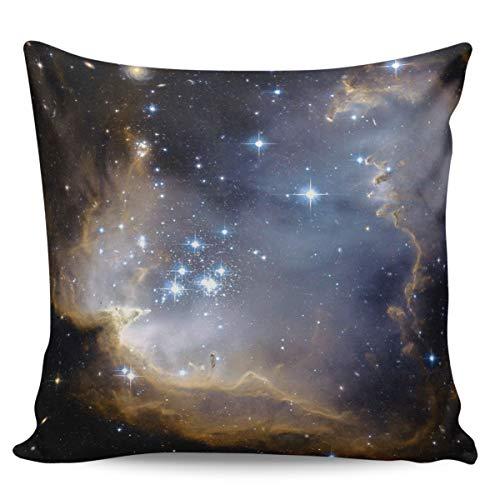 Fundas de almohada de 45,7 x 45,7 cm, diseño de cielo estrellado misterioso en cuentos de hadas, funda de cojín cuadrada para decoración del hogar