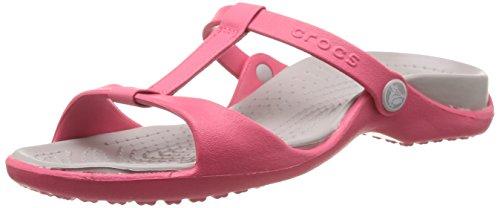 Crocs Cleo III, Damen Sandalen, Rot (Poppy/Platinum 6IU), 42/43 EU