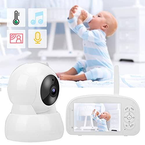 Monitor de Voz bidireccional, Monitor para bebés Conecte hasta 4 cámaras Pantalla de Monitor para bebés de Alta definición de 5 Pulgadas para observar y comunicarse con su bebé(Transl)