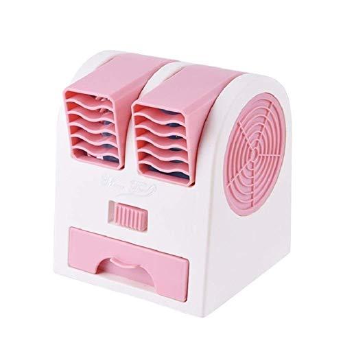 yunyu Ventilador portátil para Exteriores, Mini Ventilador portátil Sin aspas USB Ventilador de enfriamiento de Escritorio Salida de Viento Doble Difusor de Perfume Conveniente (Color: Rosa)