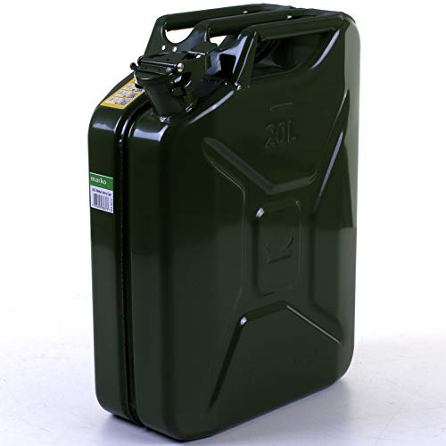 RED FUEL JERRY CAN PETROL DIESEL 10L WITH ADDITIONAL PERMIT FOR ACCORDING ADR