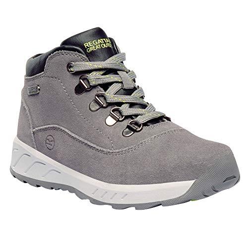 Regatta Grimshaw - Chaussures de randonnée en Daim - Enfant (EUR 30) (Gris)