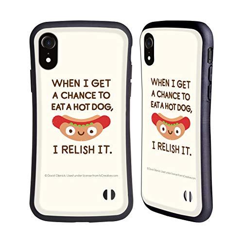 Official David Olenick A Frank Assessment Hot Dog Food Hybrid Case Compatible for iPhone XR