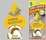 Arbre Magique Deodorante per Auto, Profumazione Prolungata fino a 7 Settimane (3 PEZZI, COCCO)