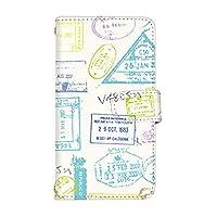 スマ通 Galaxy S7 edge SC-02H / SCV33 国内生産 カード スマホケース 手帳型 SAMSUNG サムスン ギャラクシー エスセブン エッジ 【1-ホワイト】 レトロ スタンプ q0004-e0390