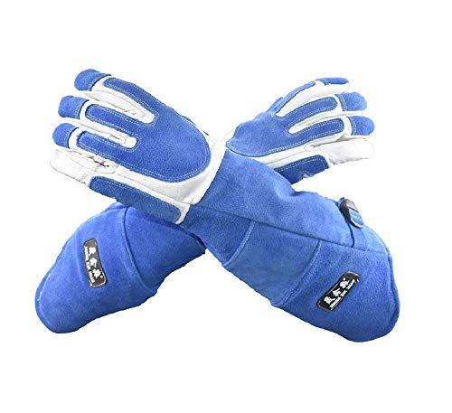 Handschuhe zum Schutz vor Haustieren, lang, Biss- und Kratzfest, für Hund, Katze, Vogel, Schlange, Eidechse, verdicktes Rindsleder, für die Tierhandlung und den persönlichen Gebrauch