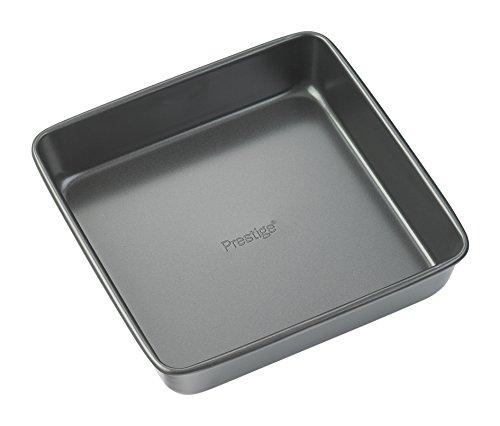 Prestige - Fuente para Horno (Acero Inoxidable, 20,32 cm, Forma Cuadrada), Color Negro