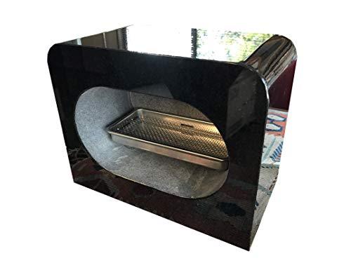 石のさかい 墓石 香炉 黒御影石 線香皿付き 限定品