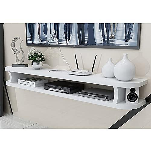 Mueble de TV Mesa Flotante,Soporte de TV Flotante para Apartamento PequeñO, Armario de TV Colgante Simple, Estante de Almacenamiento para Sala de Estar/C / 100cm