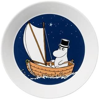 ARABIA ( Arabic ) Moomin plate Papa deep blue 19cm
