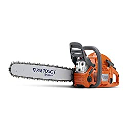 a Husqvarna 455 chainsaw pruning tool
