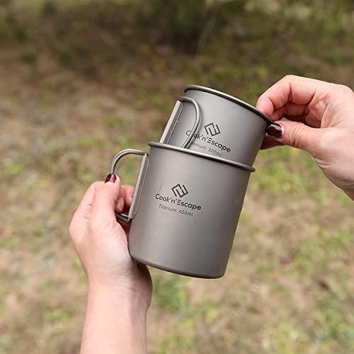 COOK'N'ESCAPE Ultralight Titanium Cup 300ml + 375ml (2 pieces)