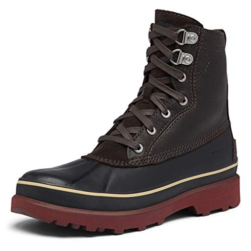 SOREL Men's Caribou Storm WP — Blackened Brown — Waterproof Leather Winter Boot — Size 9
