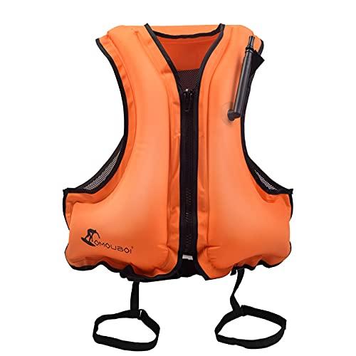 Chalecos Flotabilidad Natación Adulto AONYIYI Chaleco de Portátiles Inflables para Natación Kayak Canotaje Deportes Acuáticos