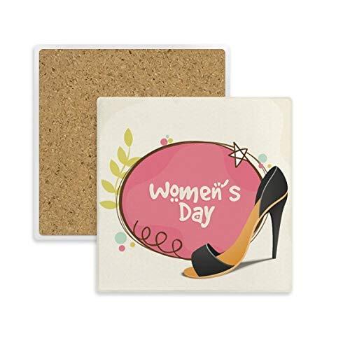 DIYthinker hoge hakken vrouwen dag patroon vierkante onderzetter Cup mok houder absorberende steen voor dranken 2 stks gift