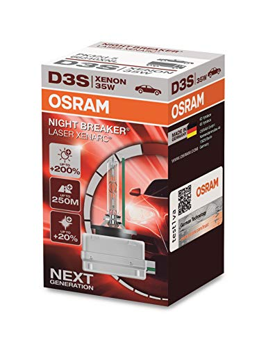 OSRAM XENARC NIGHT BREAKER LASER D3S, + 200%, xenón, 66340XNL, 1 lámpara