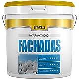 PINTURA PARA FACHADAS ANTIMOHO 5 kg - BRITECASA - Extra BLANCO, MATE - Impermeabilizante, máxima adherencia y cubrición, para interior y exterior - Revestimiento liso