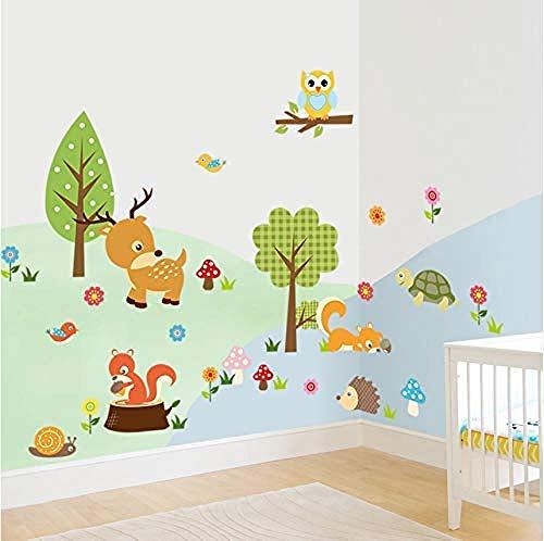 YAZCC Stickers muraux décoratifs d'aventure Stickers Crazy Jungle Animals Baby Nursery