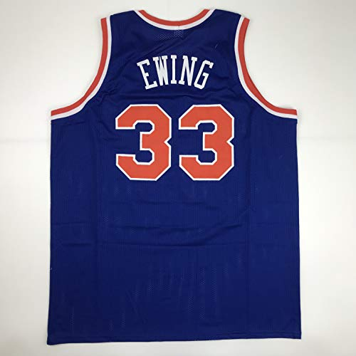 Unsigned Patrick Ewing New York Blue Custom Stitched Basketball Jersey Size Men's XL New No Brands/Logos