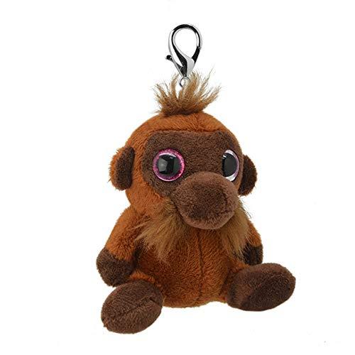 Wild Planet Orbys-Llavero de Peluche Orangutan 10cm Hecho a