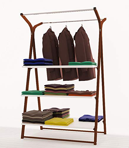 RONNIEART decoración de Pared Gondola Cara Perchero con estantes, DE 106cm Gondola Tienda Cabina Armario Moderno, tamaño