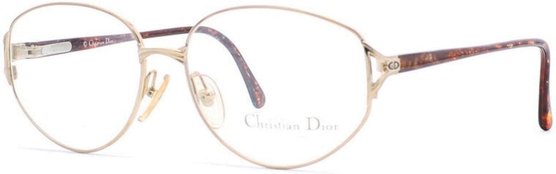 Christian Dior 2859 40 gold Authentic Women Vintage Eyeglasses Frame