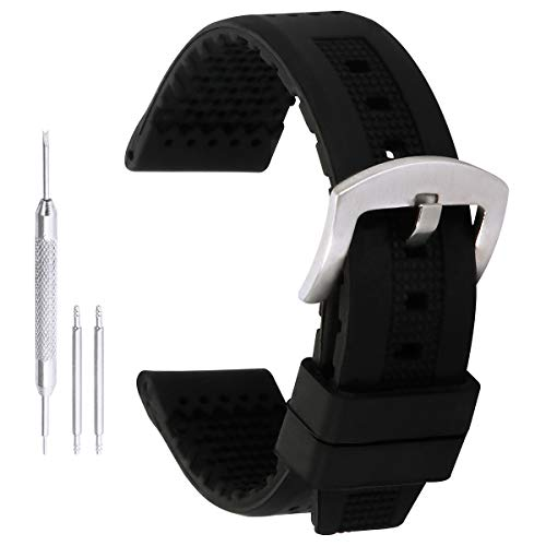 18 mm bandas de sustitución de silicio de goma negra dignas para los relojes inteligentes para mujer correas de silicona reloj deportivo