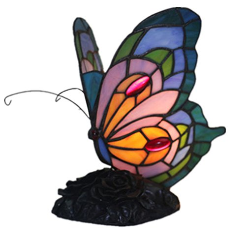 Odziezet Tiffany Estilo Lámpara de Mesa 8 Pulgadas Lámpara de Cabecera Lámpara de Escritorio Lámpara de la Sala de Estar de la Barra